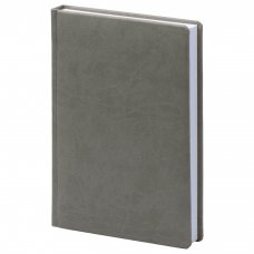 Щоденник датований А5, блок кремовий, Вівелла, колір сірий