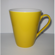 "Чашка ""Піраміда"" біло-жовта"